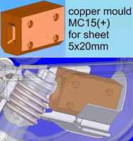casting die, copper, for sheet t5xW20, for flasks Do65xH80, MC15(+) (not MC16 / MC20)